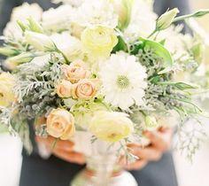 soft, romantic color palettes - apricot, pastel lemon, white, light green