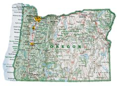 Oregon Map by David Imus.