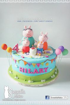Torta de peppa Peppa Pig is often a British toddler computer animated telly sequence guided Tortas Peppa Pig, Bolo Da Peppa Pig, Fiestas Peppa Pig, Peppa Pig Birthday Cake, Birthday Cake Girls, Peppa Pig Cakes, 3rd Birthday, Fondant Girl, Fondant Cakes