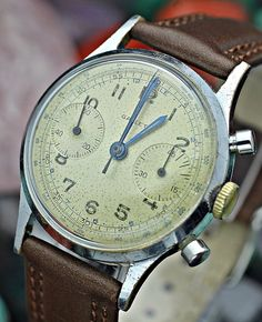 C. 1940's Vintage GALLET Military Chronograph Landeron 149 33mm Men's Watch