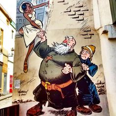 Discover the capital of #European #Comics strip discover #Brussels pic by @mario.brighenti