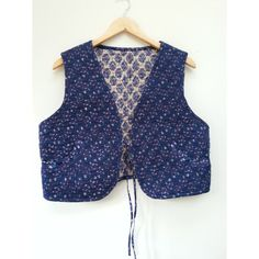 Gypsy Boho Hippie Ethnic Festival Waistcoat Vest L UK 14 16 18 US 10... ($31) ❤ liked on Polyvore featuring outerwear, vests, indian vest, cotton vest, boho vest, blue vest and gypsy vest