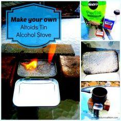 Altoids alcohol stove http://thesurvivalmom.com/altoids-tin-alcohol-stove/