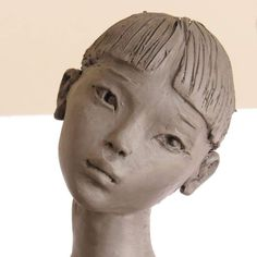 """Result of image search for """"little woman face in clay"""" Sculpture Head, Sculptures Céramiques, Pottery Sculpture, Pottery Art, Ceramic Figures, Ceramic Art, Art Visage, Arte Fashion, Woman Face"""