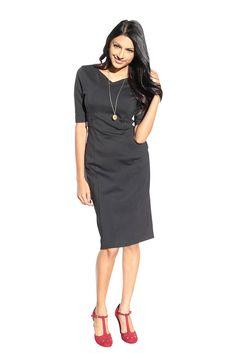 Alyssa Modest Dress in Black Jen Clothing