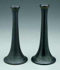 Norse Pottery Candlesticks
