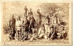 Tenth Cavalry Buffalo Soldiers & Apache Scouts. 1885. Arizona. Photo by A. Miller. Source - True West Magazine.