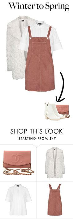 """""""Winter to Spring"""" by yagmur ❤ liked on Polyvore featuring Chanel, Topshop, Acne Studios and Wintertospring"""