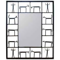 Modernist Mirror | From a unique collection of antique and modern wall mirrors at https://www.1stdibs.com/furniture/mirrors/wall-mirrors/