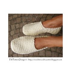 Crochet Slipper Pattern. Winter Loafers FOR TOASTY FEET!  Chunky, warm and dressy!