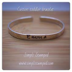 Custom toddler bracelet