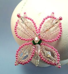 Hair Pin Hair Jewelry Pink Butterfly Hair Pin by QXPShop on Etsy