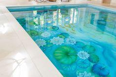 This ceramic mural swimming pool is beautiful
