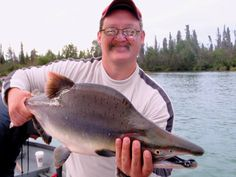 Here I am on the Lower Kenai River Salmon Fishing Alaska 2008