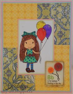 B is For Balloon, Handmade Card By Katelyn