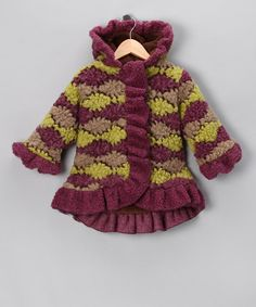 Take a look at this Brown Squiggle Stripe Anne-Marie Coat - Toddler & Girls by Corky & Company on #zulily today!#fall