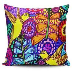 Cojin Decorativo Tayrona Store Pajaros Y Flores - $ 43.900