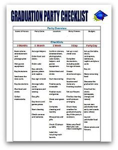 graduation party checklist template view source high schools and search on pinterest