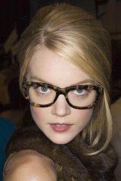 86d94051e4 Lindsay Ellingson - w thick framed glasses -