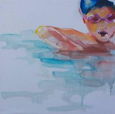 "Saatchi Art Artist Roberta Di Gregorio; Painting, ""Swimming Pool X"" #art"