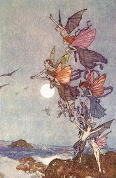 Fairies and Faeries: Selected art prints by Arthur Rackham, Warwick Goble, Sulamith Wulfing, Edmund Dulac and others Arthur Rackham, Edmund Dulac, Art And Illustration, Botanical Illustration, Elves And Fairies, Vintage Fairies, Fairytale Art, Fairy Art, Magical Creatures