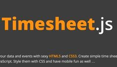 Timesheet.js – JavaScript library for simple HTML5 & CSS3 time sheets