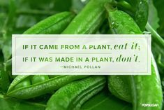 If it came from a plant, eat it; if...