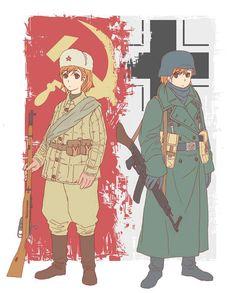 Steams gemenskap :: Company of Heroes 2 Art Anime, Chica Anime Manga, Manga Art, Kawaii Anime, Anime Military, Military Girl, Company Of Heroes 2, Guerra Anime, Character Art