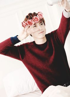EXO | Chanyeol | Bright & Soft | Flower Crown | Vsingn | Pink Red