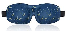 Lonfrote Star Moon Deep Molded Sleep Mask, with Ear Plug and Carry Pouch Lightweight & Comfortable Eye mask, Super Soft Material (Blue) Best Sleep Mask, Look Good Feel Good, Large Eyes, Badass Women, Ear Plugs, Chronic Pain, Fibromyalgia, Chronic Illness, Good Sleep