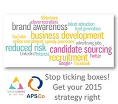 APSCo Webinar: Getting Ready for 2015 – Practical and Results-Driven Social Media Strategy for Recruiters   http://www.barclayjones.com/blog/social-media-for-recruiters/apsco-webinar-getting-ready-for-2015-%E2%80%93-practical-and-results-driven-social-media-strategy-for-recruiters/