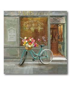 Take a look at this Courtside Market | French Flowershop Wrapped Canvas today!