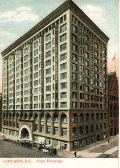 Chicago Stock Exchange. 1894. Chicago Illinois. Adler & Sullivan. Demolished 1972