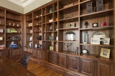 Luxury #interior, timber study in Chateau custom built #Sydney #home