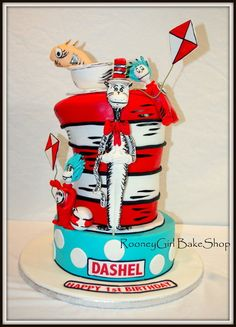 Cat in the Hat & Friends  Cake by rooneygirl