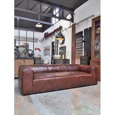 Canapé cuir vieilli