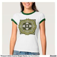 Women's Bella+Canvas Ringer Sacred Geometry T-Shirt