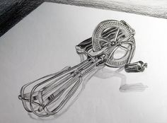 Object drawing - kitchen utensil (medium: pencil on paper) drawings рисунки Love Drawings, Pencil Drawings, Art Drawings, Object Drawing, Paper Drawing, Observational Drawing, Still Life Drawing, Drawing Hands, A Level Art