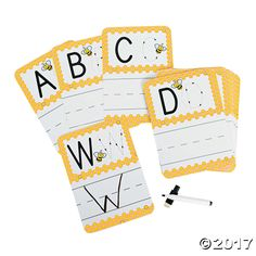 Busy Bee Dry Erase Alphabet Cards