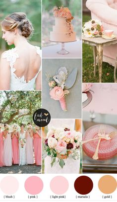 Blush + Pink  Ideal for a relaxed summer wedding