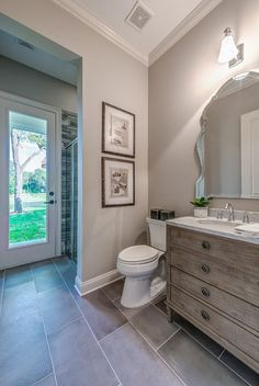 What Colors Go With Gray Bathroom