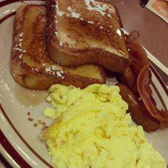 Breakfast- love eating breaky out ...make my eggs over medium :)