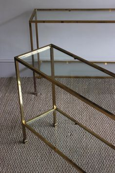 A Very Good Pair of Gilt-Brass Console Tables, Mid-20th Century
