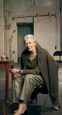 "Vanessa Redgrave, from ""8 Silver-Haired Icons We Want to See in Fashion's Next Big Campaign"" - Photographed by Annie Leibovitz, Vogue, October 2010"