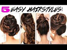★5 EASY SUMMER HAIRSTYLES | TWIST BRAIDS + BUNS | CUTE HAIRSTYLE - YouTube || #5 easy twist updo