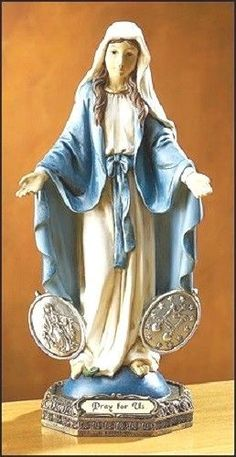 OUR LADY OF THE MIRACULOUS MEDALS Madonna Statue Religious Figure Catholic NIB
