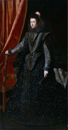 Portrait de Isabelle de France, reine d'Espagne, 1727-31 atelier de Diego Velazquez