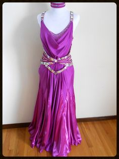 Ultraviolet - smooth and standard ballroom dress rental - dazzledancedressrentals.com Renting ballroom dance dresses at affordable prices!  Come pick your favorite!