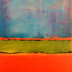 DAILY ROTHKO BONUS: Detail from Mark Rothko, No. 6 (Violet, Green and Red), 1951 This lovely bleed may be pushed a bit orange but is one of the few clear shots we have of this magnificent painting. Mark Rothko, Rothko Art, Tachisme, Abstract Expressionism, Abstract Art, Joan Mitchell, Camille Pissarro, Kunst Poster, Jackson Pollock