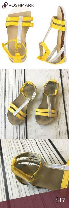 Osh Kosh toddler Girls yellow sandals Guc Osh Kosh Yellow toddler sandals size 8 OshKosh B'gosh Shoes Sandals & Flip Flops